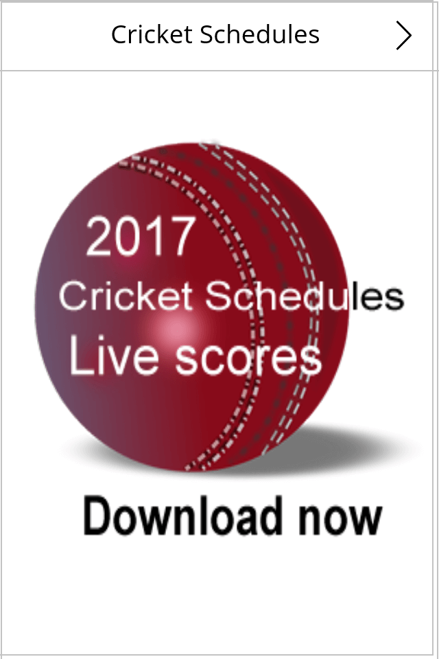 Cricket Schedule App